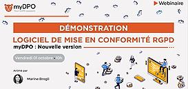 myDPO: Démonstration de la nouvelle version, logiciel de mise en conformité RGPD