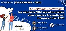 Consolidation statutaire : les solutions EPM incontournables pour adresser les pratiques françaises d'ici 2025