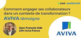 Le DRH d'Aviva partage sa stratégie d'engagement collaborateurs et de QVT dans un contexte de forte transformation