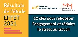 Etude EFFET 2021: 12 clés pour booster l'engagement & réduire le stress au travail